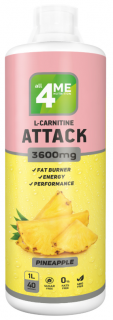 4Me Nutrition L-carnitine + Guarana ATTACK 3600 1000 мл ананас