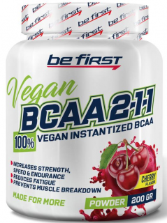 Be First BCAA 2:1:1 VEGAN instantized powder 200 г вишня